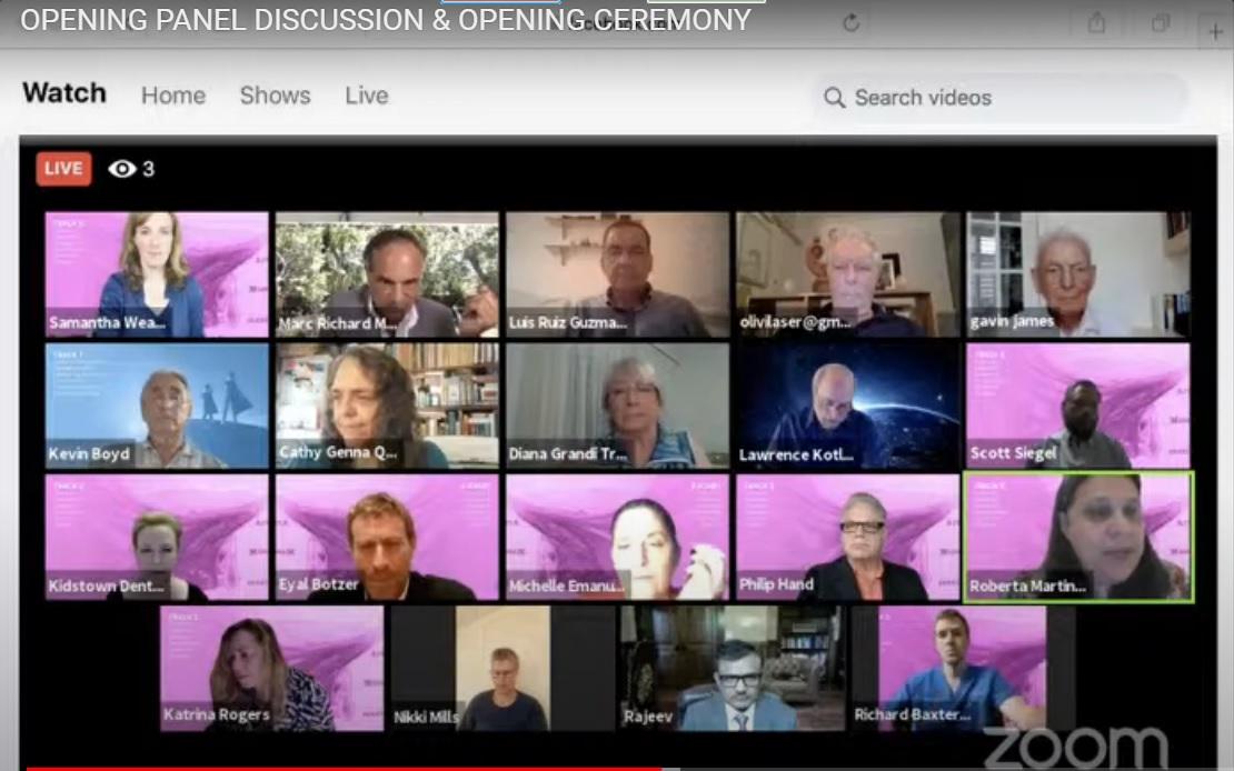 Imagen de todos los participantes pendientes del inicio de la discusión